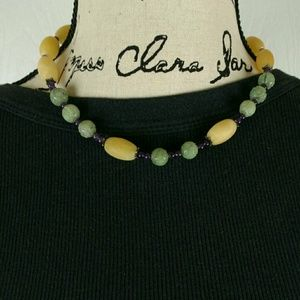 """Jewelry - Glass bead necklace, 19"""" long"""